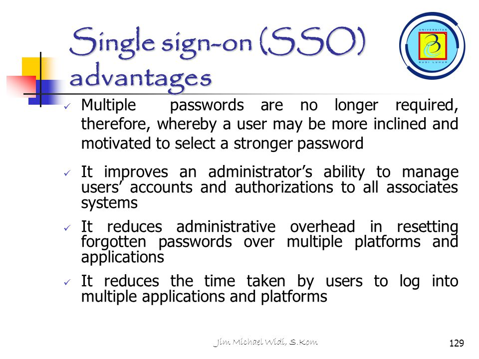 Single sign-on (SSO) advantages