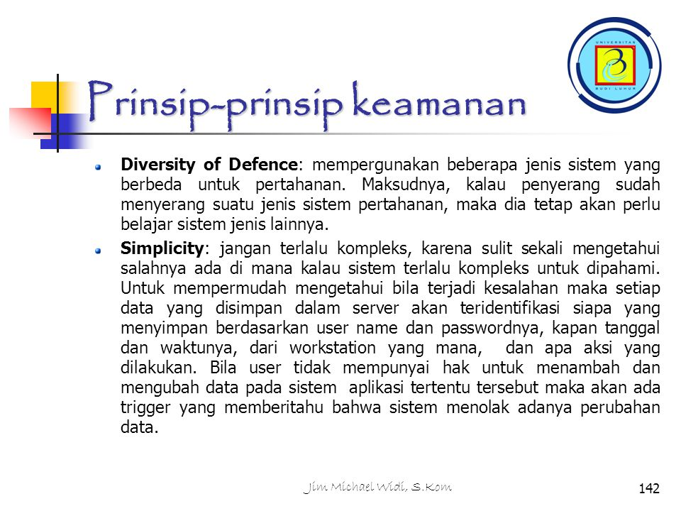 Prinsip-prinsip keamanan