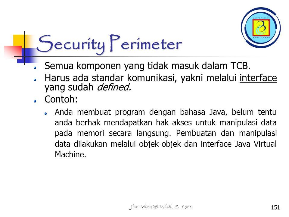 Security Perimeter Semua komponen yang tidak masuk dalam TCB.