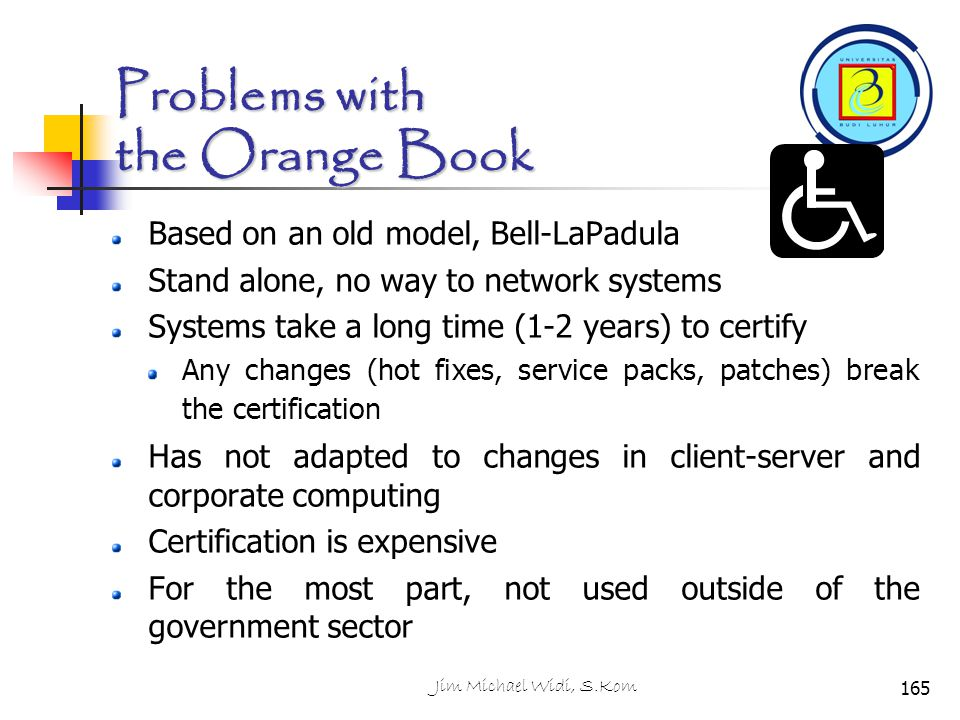 Problems with the Orange Book