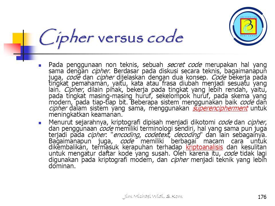 Cipher versus code