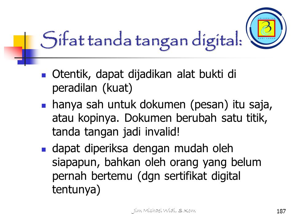 Sifat tanda tangan digital: