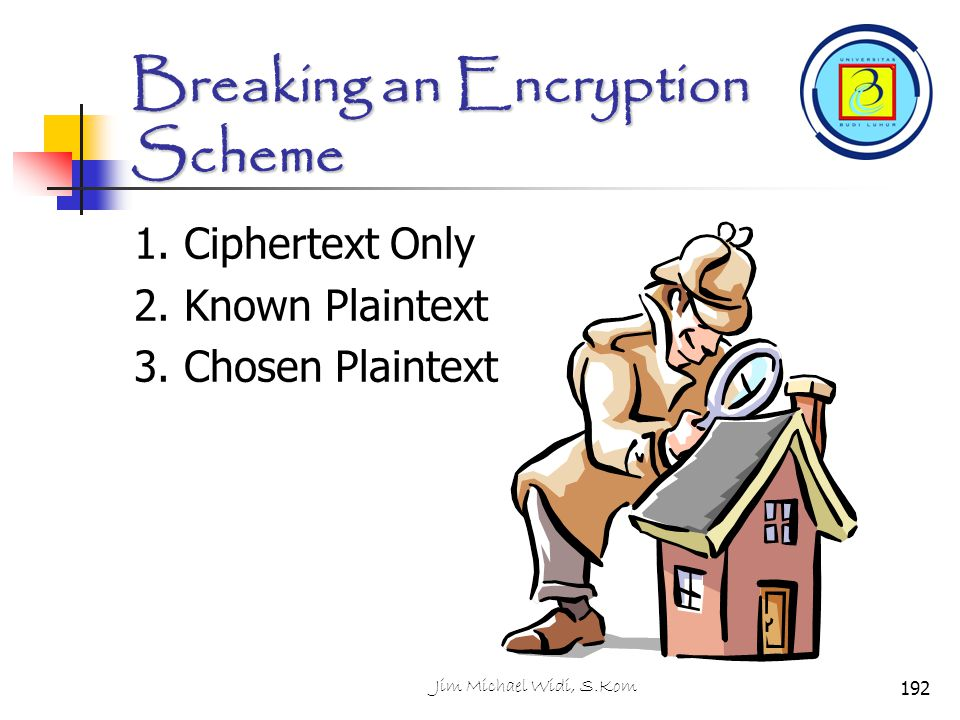 Breaking an Encryption Scheme