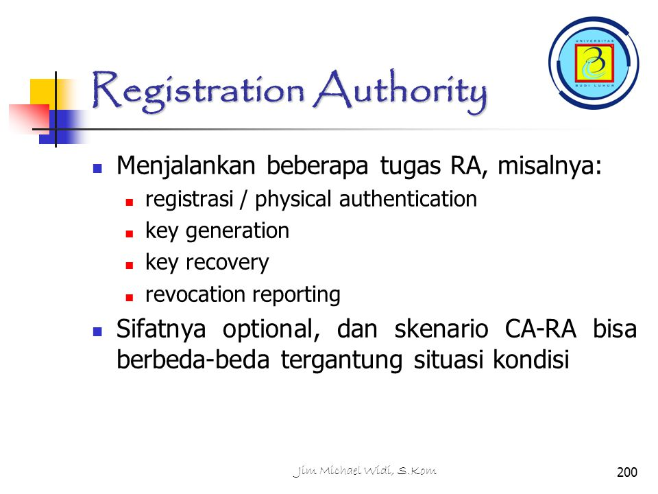Registration Authority