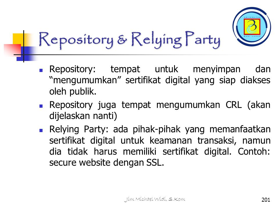 Repository & Relying Party