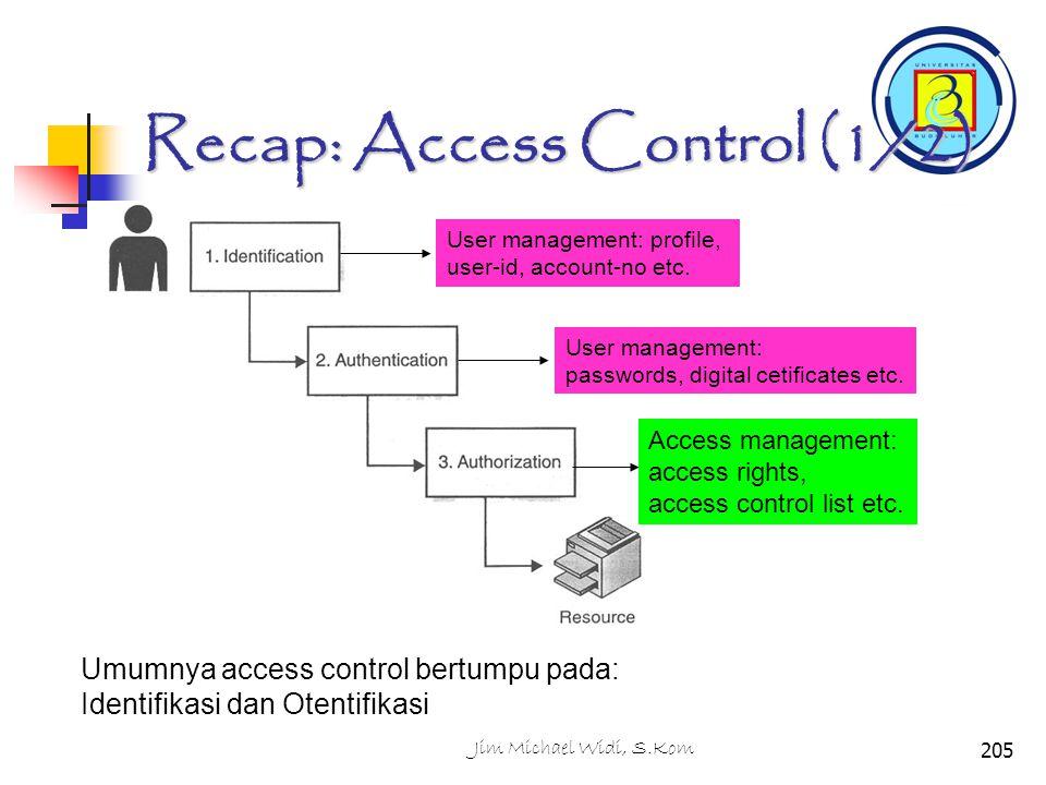 Recap: Access Control (1/2)