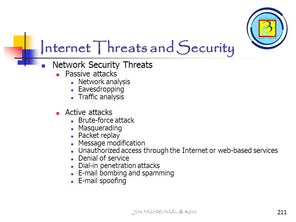 Internet Threats and Security