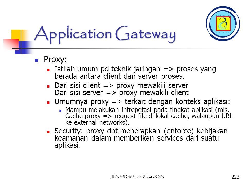Application Gateway Proxy: