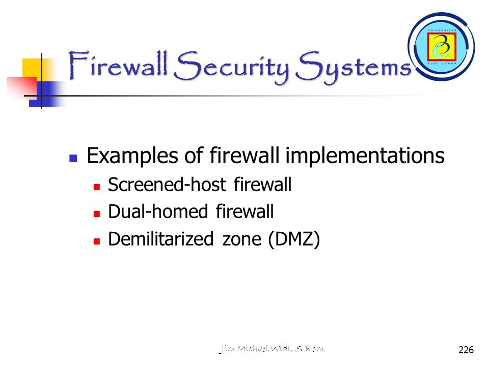 Firewall Security Systems