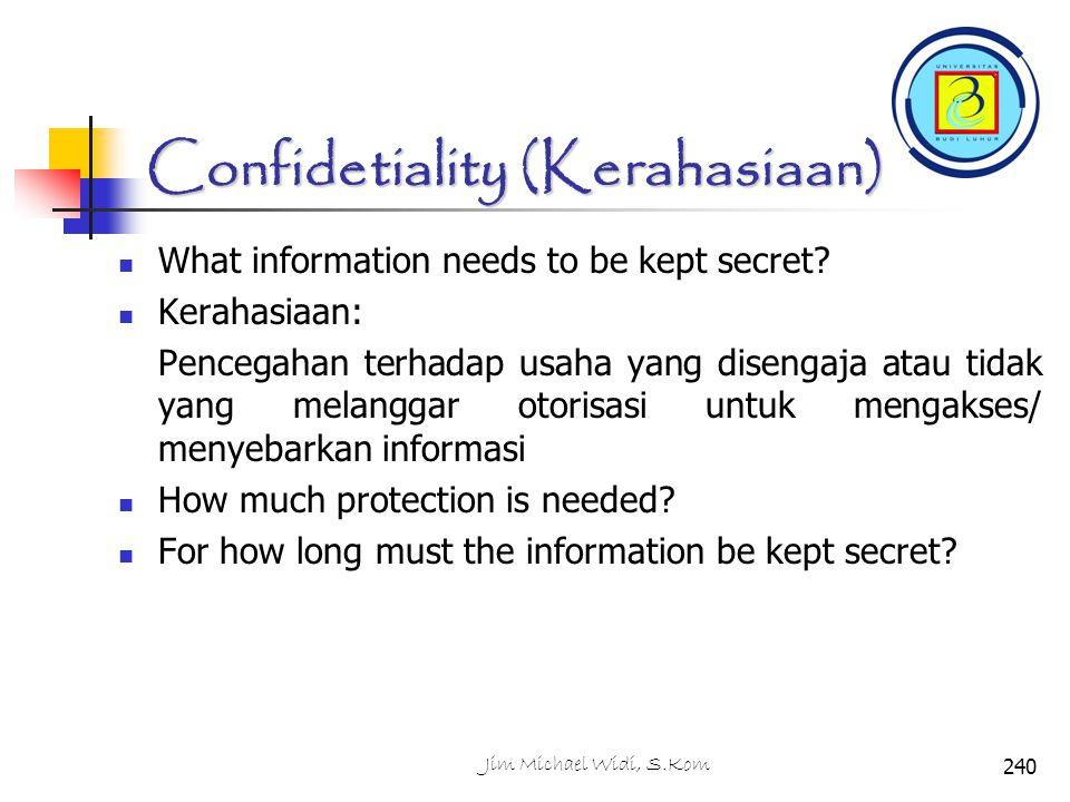 Confidetiality (Kerahasiaan)