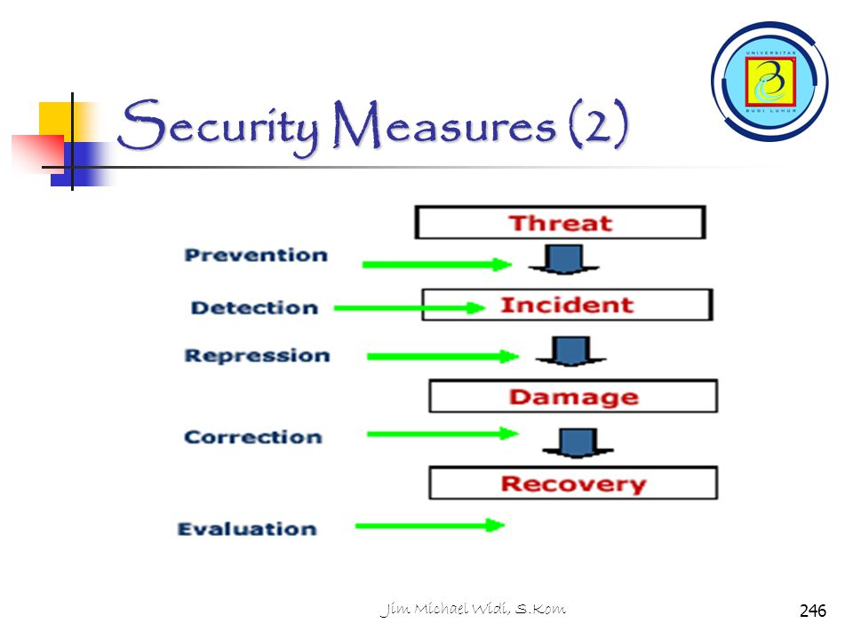 Security Measures (2) Jim Michael Widi, S.Kom