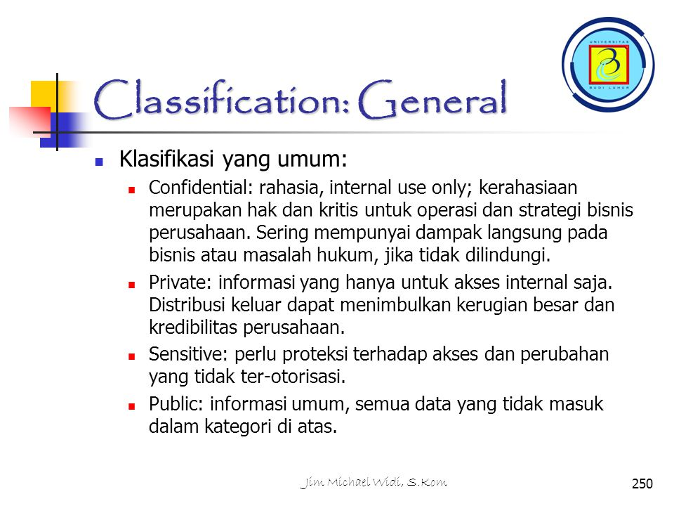 Classification: General
