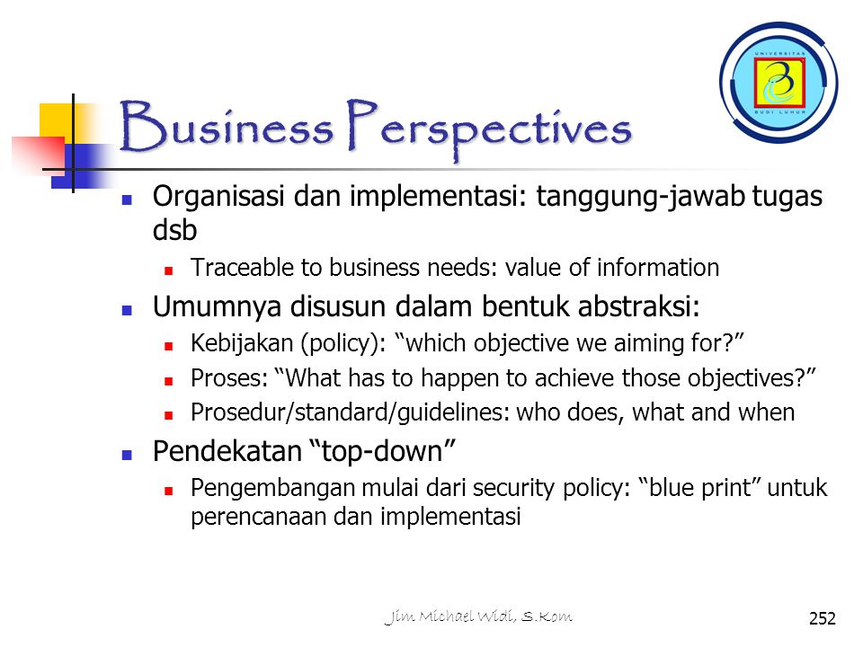Business Perspectives