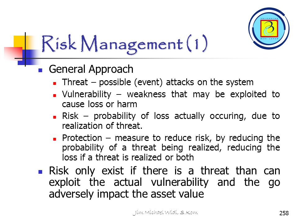 Risk Management (1) General Approach