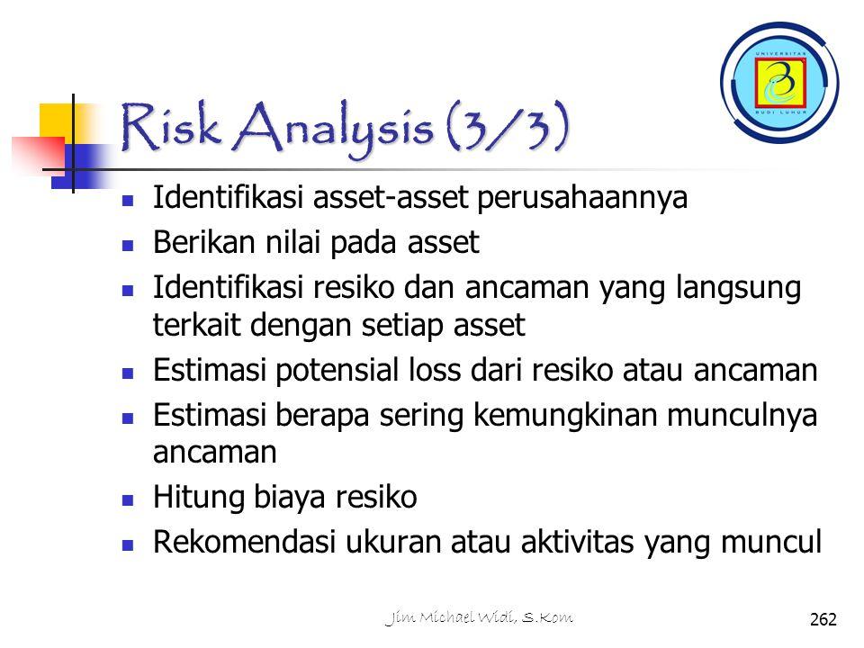 Risk Analysis (3/3) Identifikasi asset-asset perusahaannya