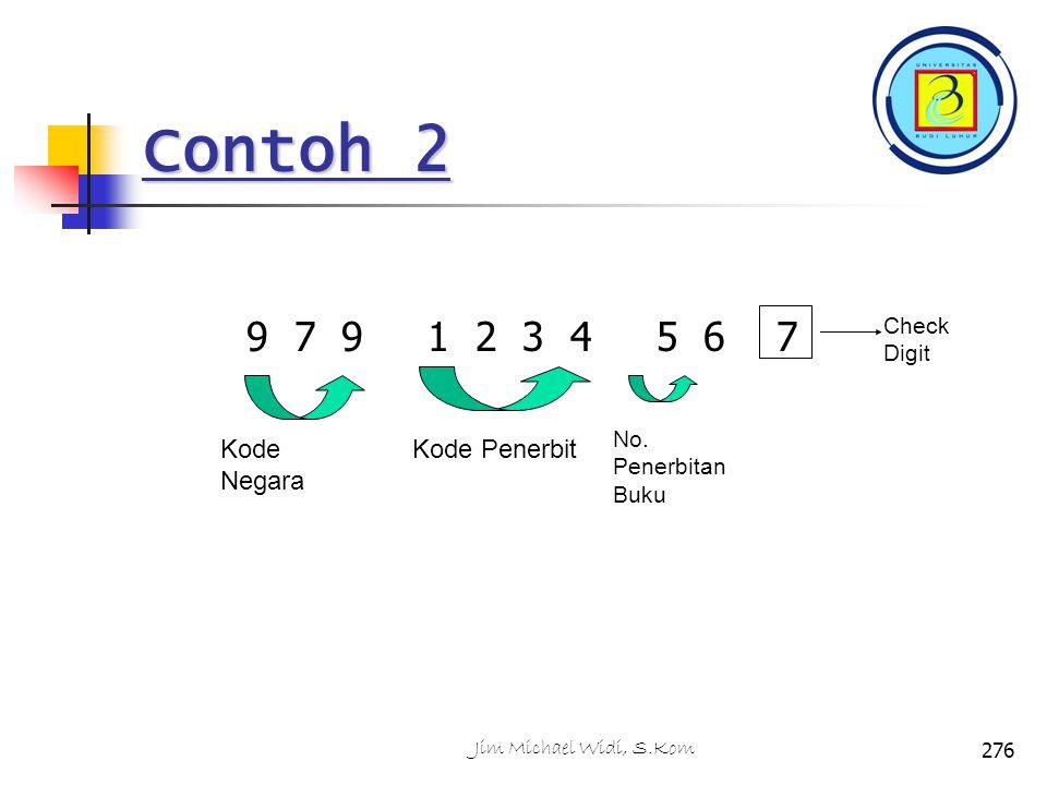 Contoh 2 9 7 9 1 2 3 4 5 6 7 Kode Negara Kode Penerbit Check Digit