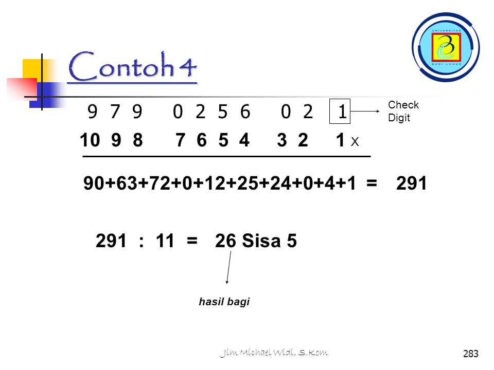 Contoh 4 Check Digit