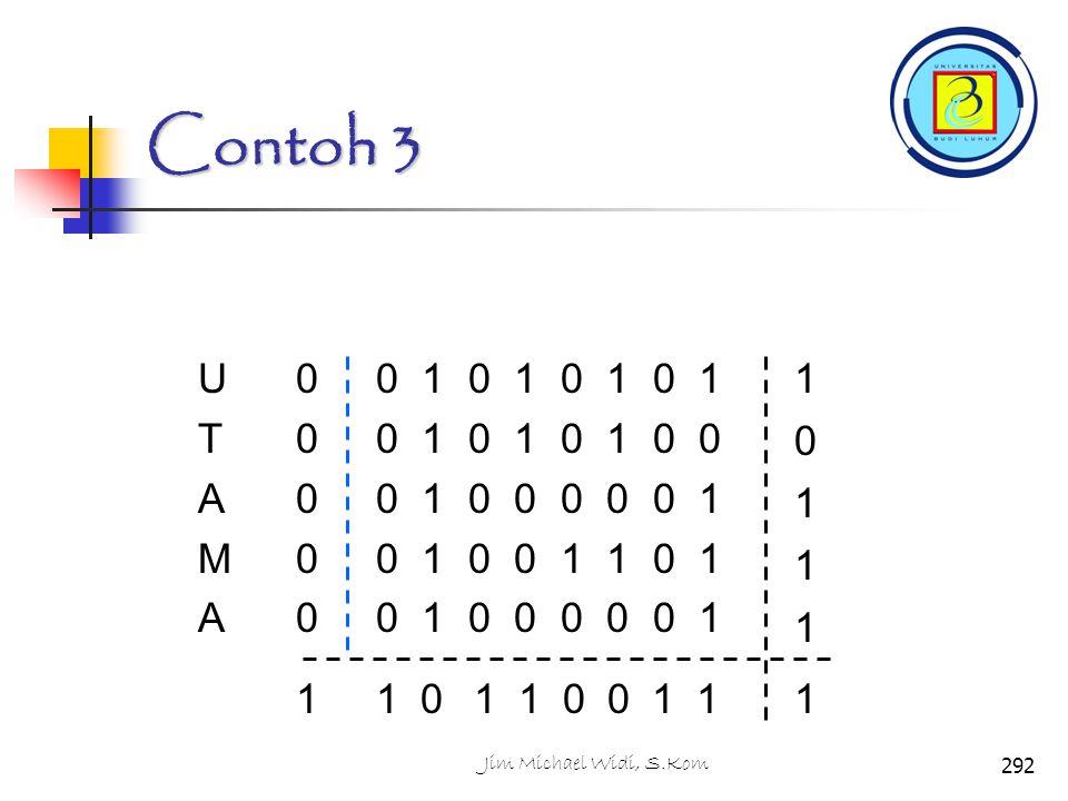 Contoh 3 U. T. A. M. 0 1 0 1 0 1 0 1. 0 1 0 1 0 1 0 0. 0 1 0 0 0 0 0 1. 0 1 0 0 1 1 0 1.