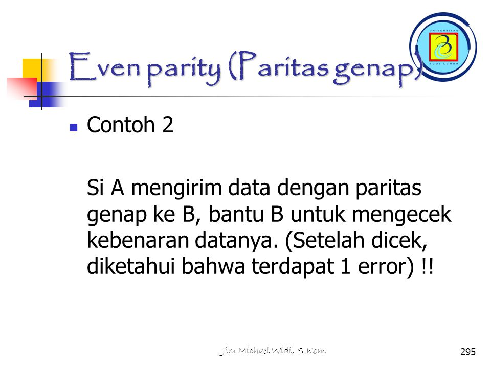 Even parity (Paritas genap)