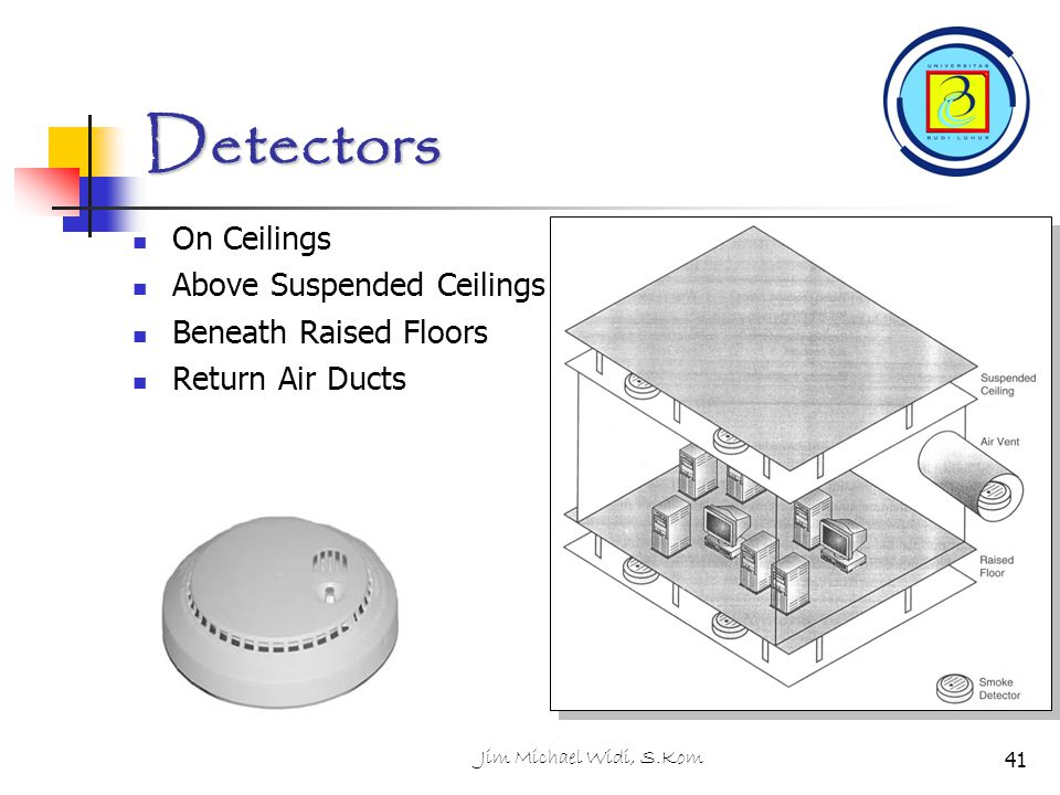 Detectors On Ceilings Above Suspended Ceilings Beneath Raised Floors