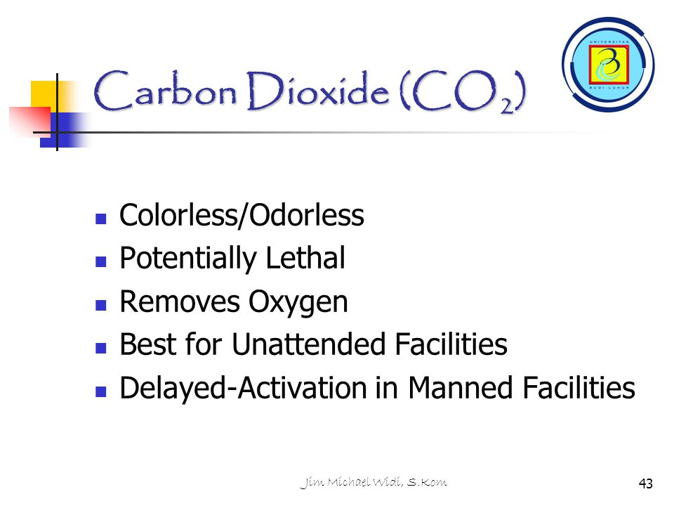 Carbon Dioxide (CO2) Colorless/Odorless Potentially Lethal