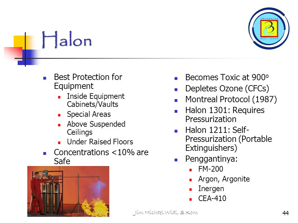 Halon Best Protection for Equipment Becomes Toxic at 900o