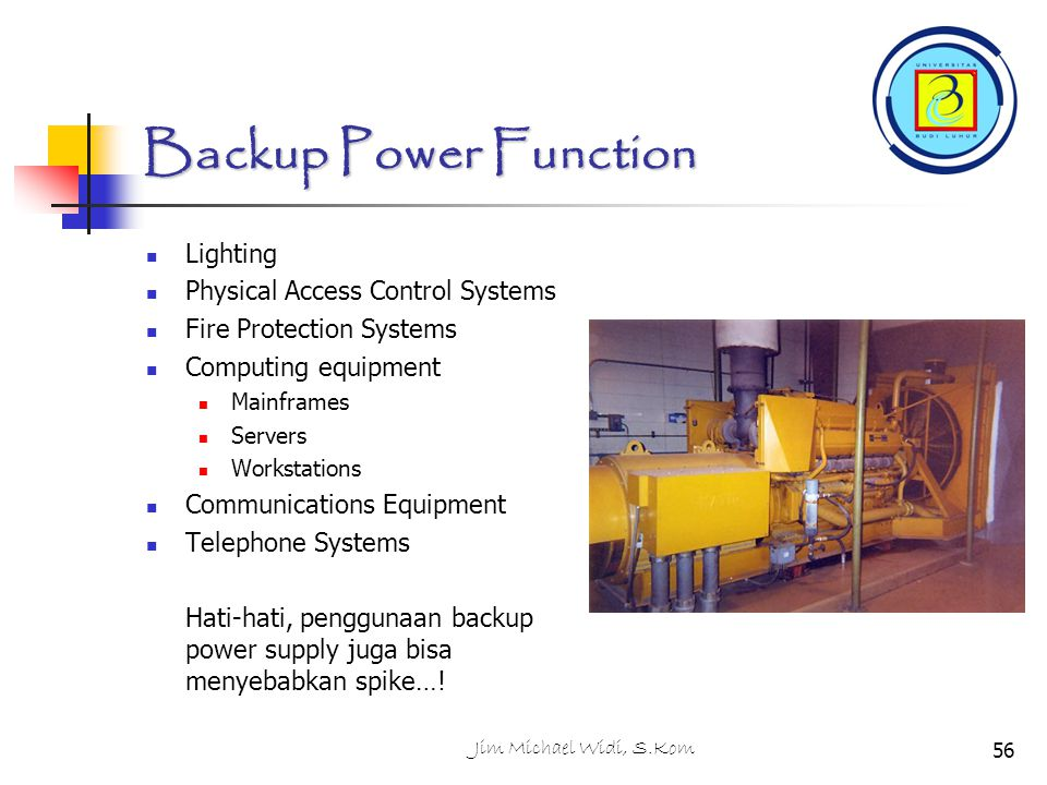 Backup Power Function Lighting Physical Access Control Systems