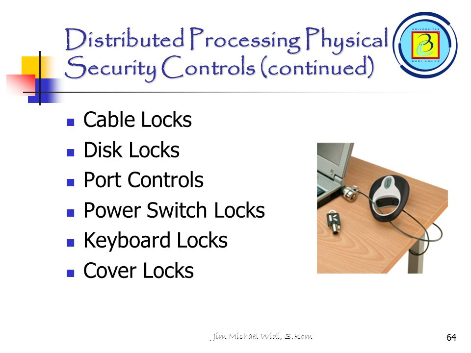 Distributed Processing Physical Security Controls (continued)