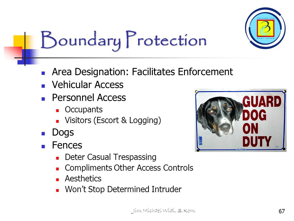 Boundary Protection Area Designation: Facilitates Enforcement