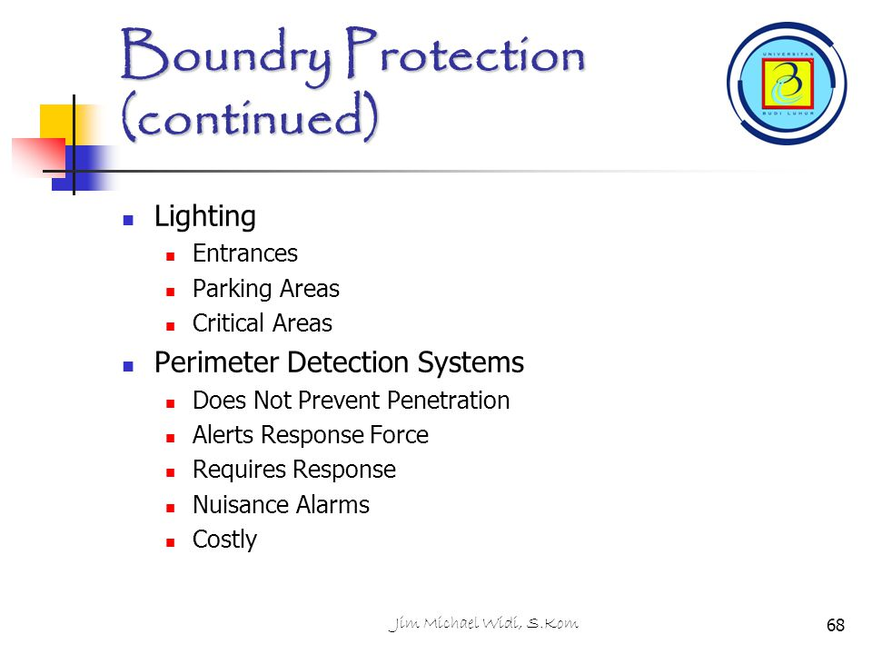 Boundry Protection (continued)