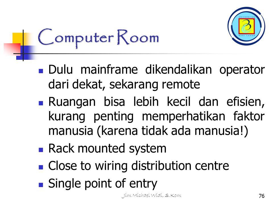 Computer Room Dulu mainframe dikendalikan operator dari dekat, sekarang remote.
