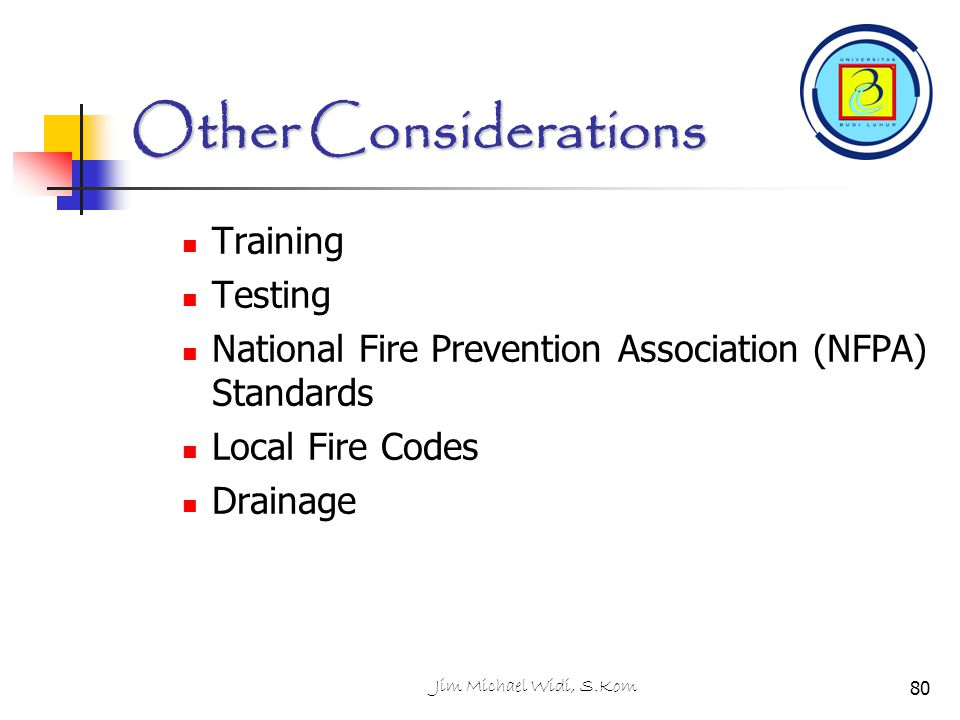 Other Considerations Training Testing