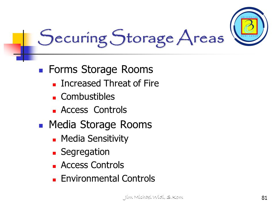 Securing Storage Areas