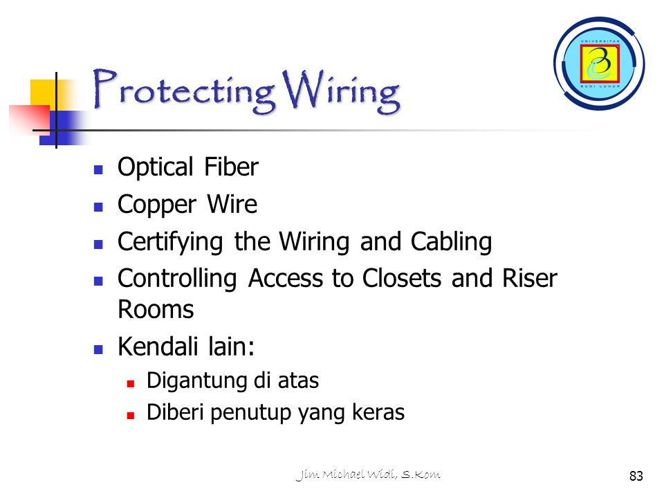 Protecting Wiring Optical Fiber Copper Wire