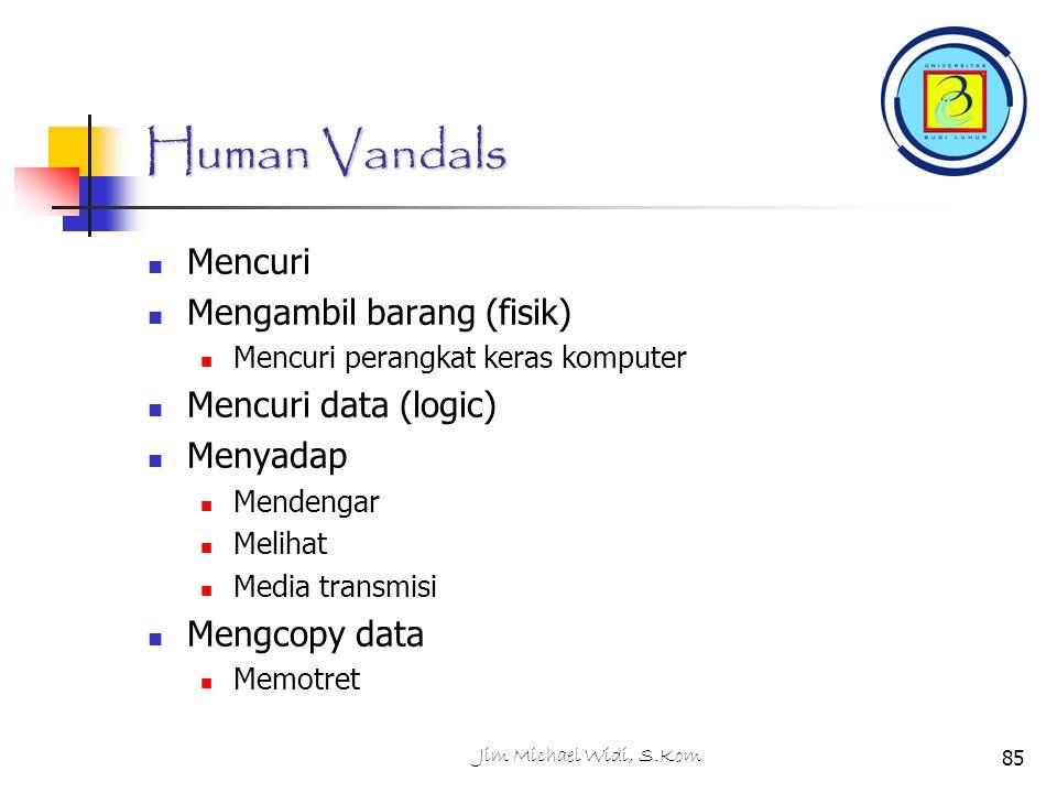 Human Vandals Mencuri Mengambil barang (fisik) Mencuri data (logic)