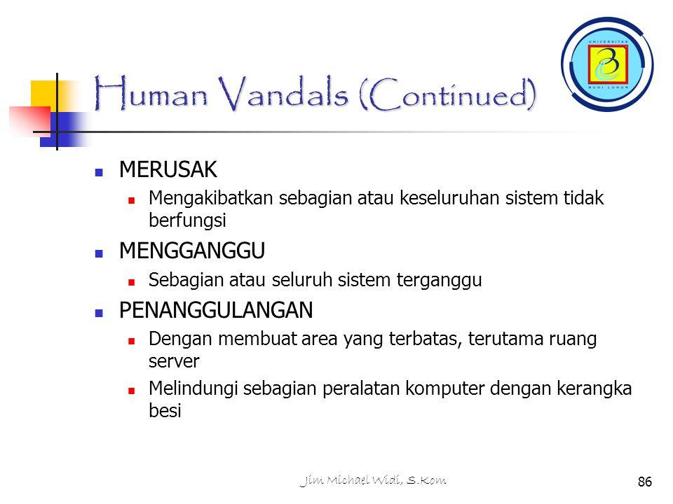 Human Vandals (Continued)