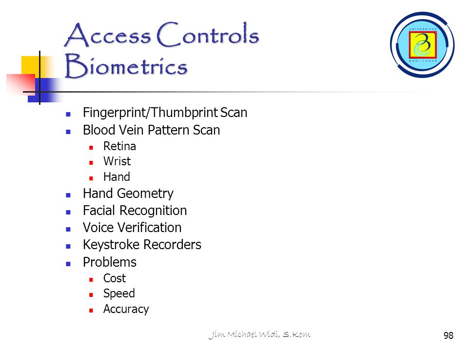 Access Controls Biometrics