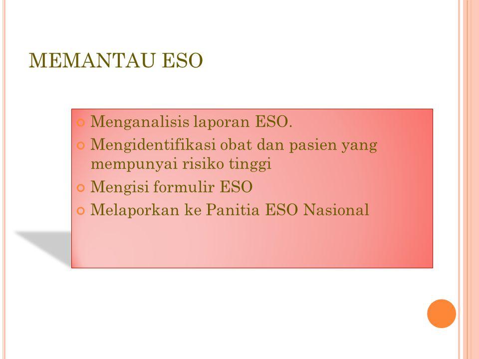 MEMANTAU ESO Menganalisis laporan ESO.
