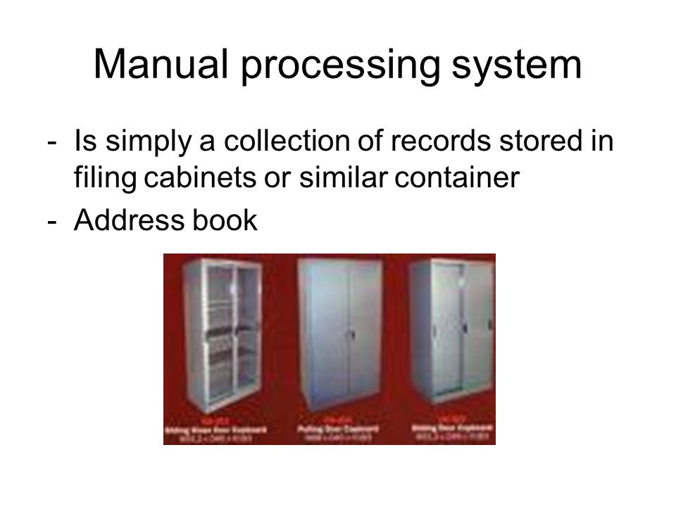 Manual processing system