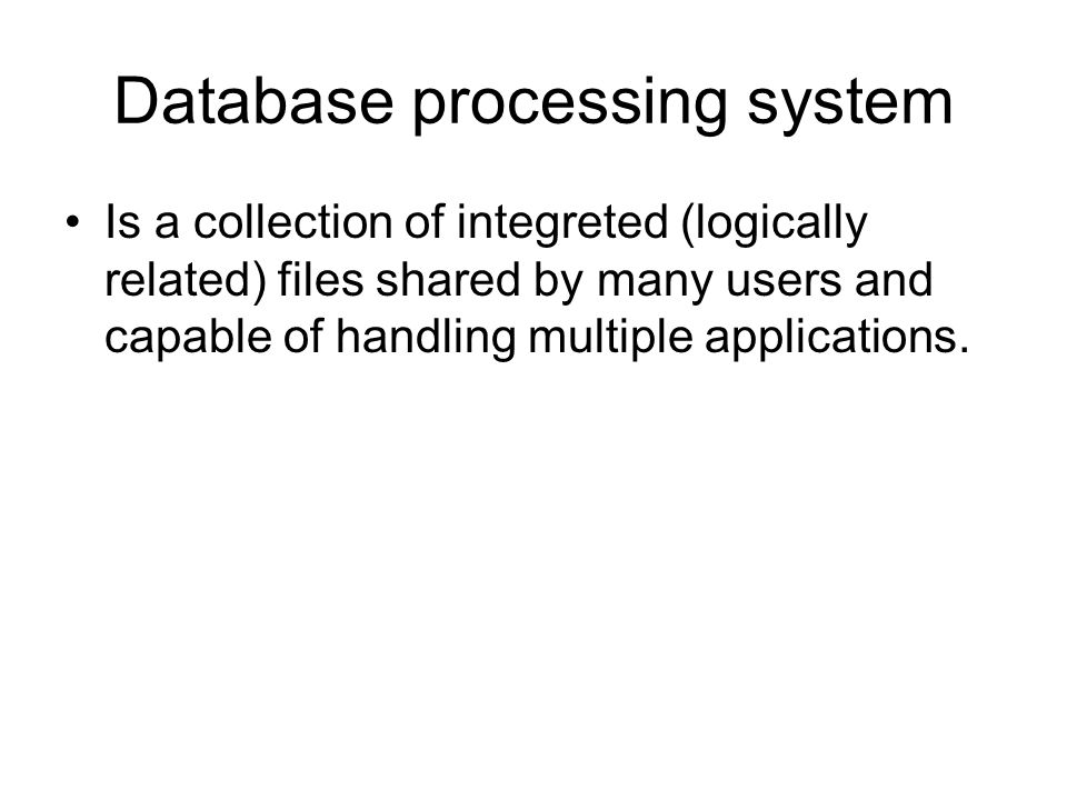 Database processing system