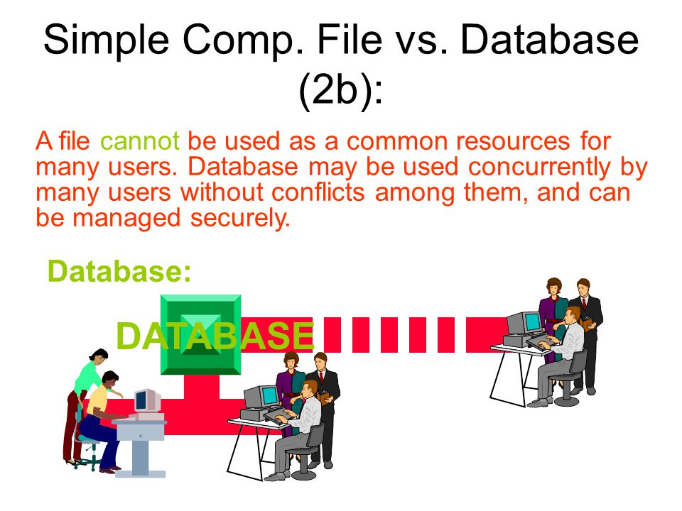 Simple Comp. File vs. Database (2b):
