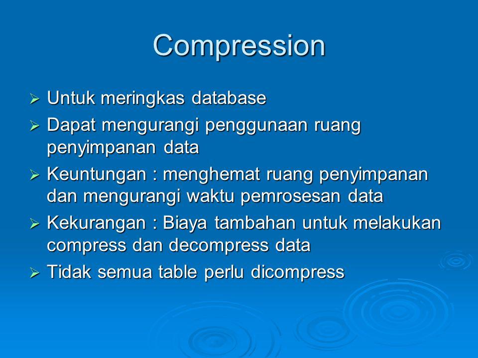 Compression Untuk meringkas database