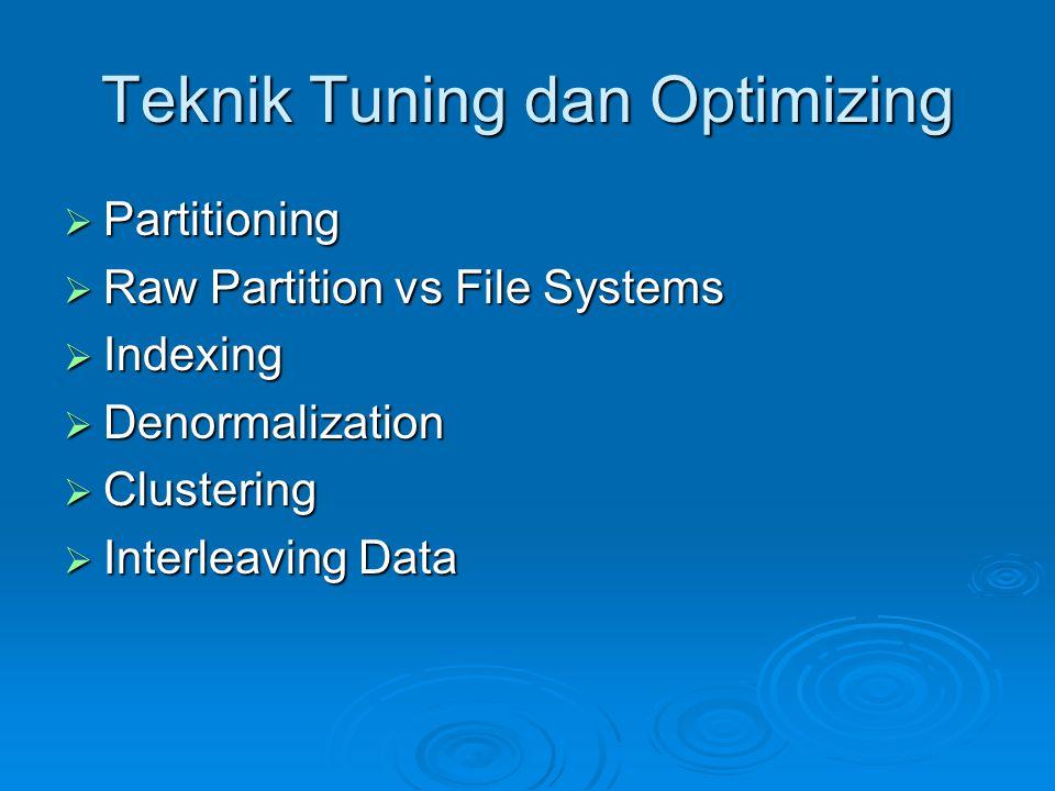 Teknik Tuning dan Optimizing