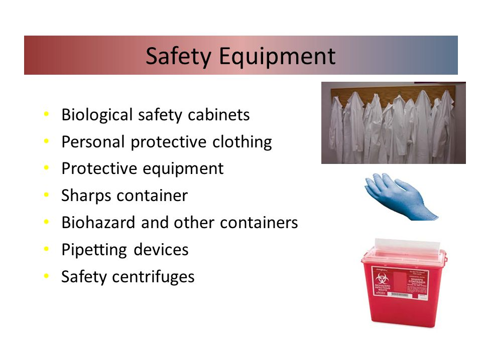 Safety Equipment Biological safety cabinets