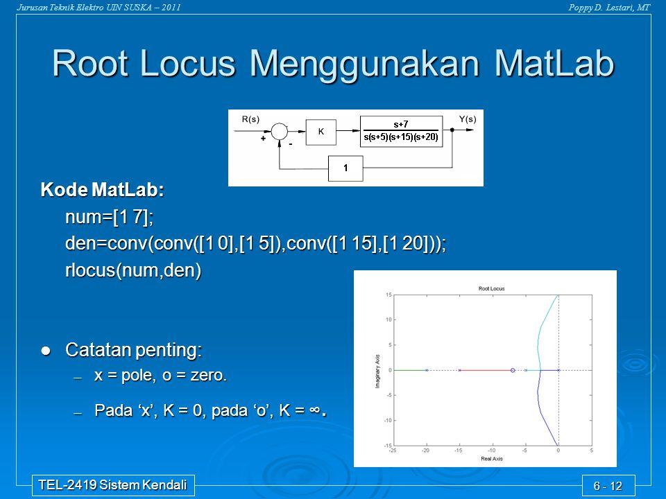 Root Locus Menggunakan MatLab