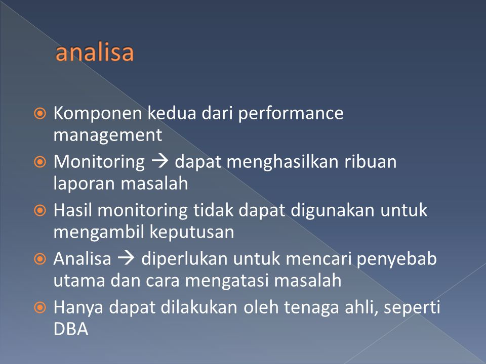 analisa Komponen kedua dari performance management