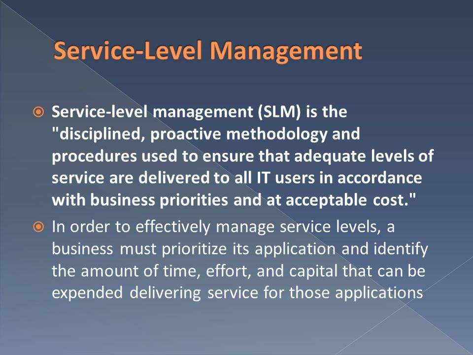 Service-Level Management