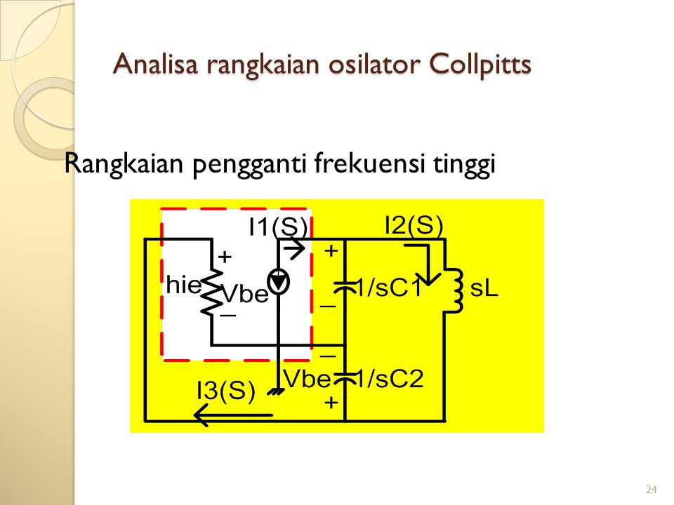 Analisa rangkaian osilator Collpitts