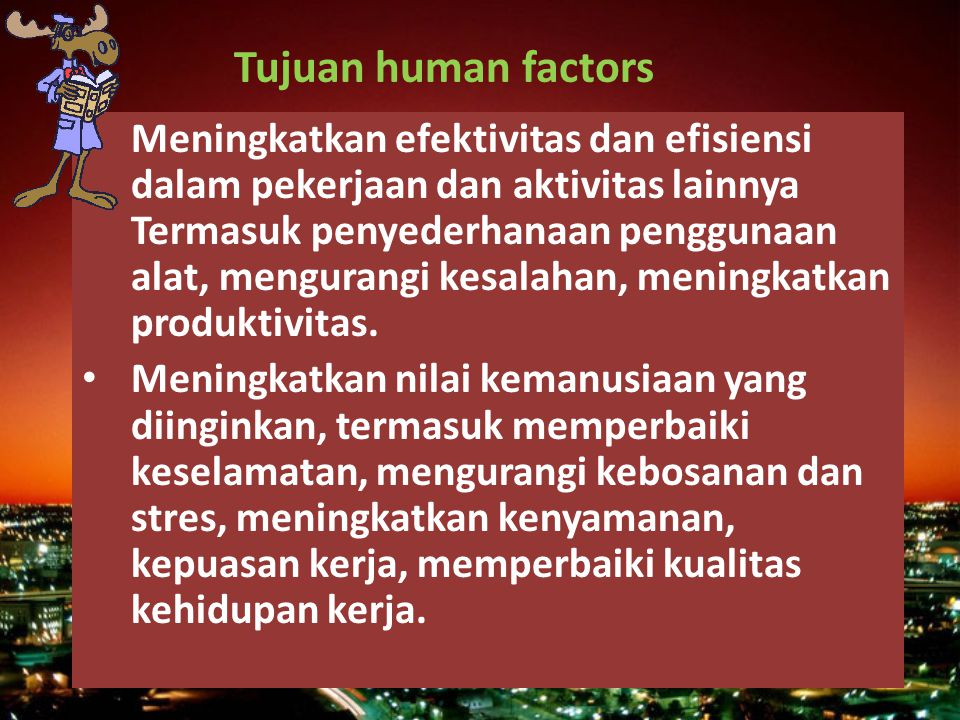 Tujuan human factors