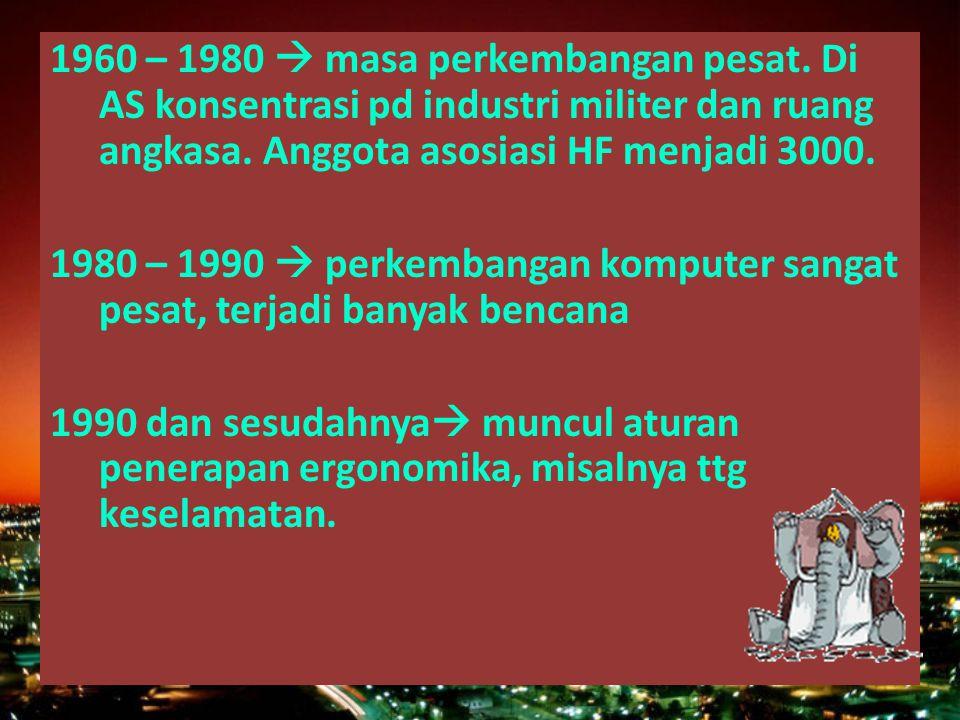 1960 – 1980  masa perkembangan pesat